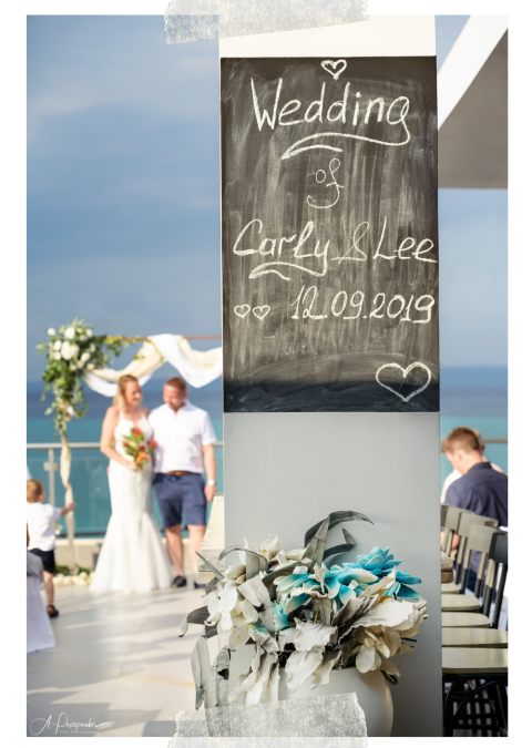 Roof garden wedding overlooking Toroneos gulf
